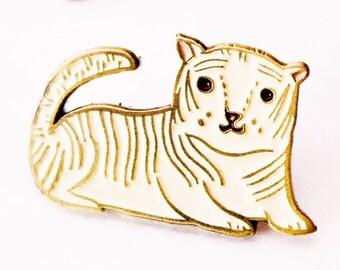 Enamel pins - WHITE TIGER lapel pin, graduation gift for him, afropunk, enamel lapel pin, tiger pin, tiger enamel pin gifts, afro punk gifts