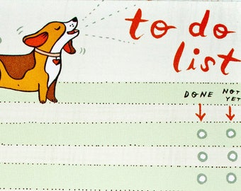 Dog gift - BEAGLE to do list notepad, fathers day gift, pet dad birthday gift, beagle gifts for dad gift, basset hound dogs notepads