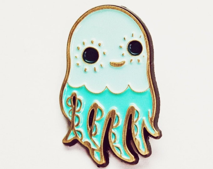 Cute Pins – OCTOPUS Enamel Pin –Squid Jewelry –Kawaii Pins – Cute Octopus Gifts –Brooch Lapel Pin – Soft Enamel –boygirlparty