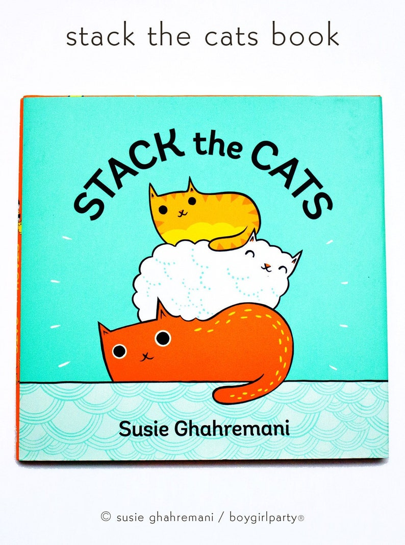 Toddler gift  STACK THE CATS kids counting book  modern image 0