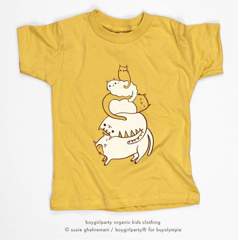 Cat Kid Clothes Cat Kid T-shirt Kids Clothes Girl Cat Cute image 0