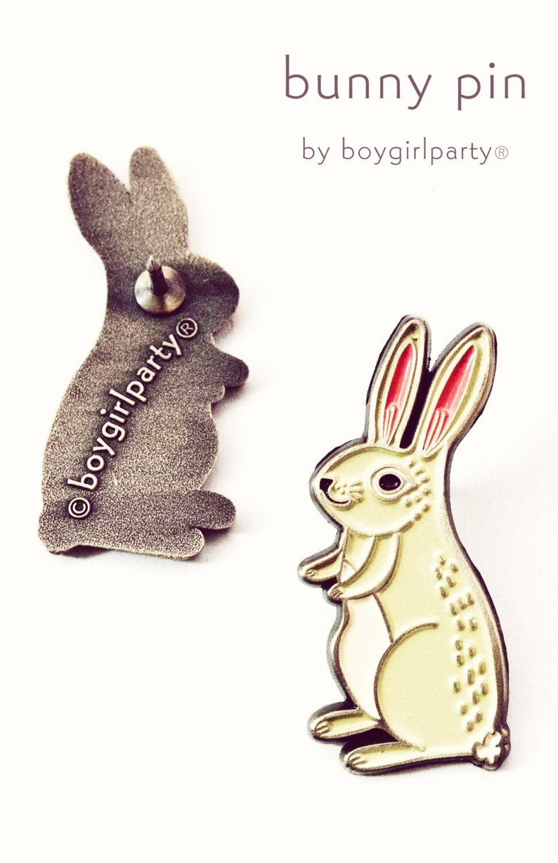 Easter Gift for Adults  Animal Pins  Easter Bunny Pin  image 0