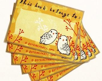 Ex Libris Book Stickers — OWL BOOKPLATES — Book lover gift — Personalized Sticker — Teacher Sticker — Book accessories — Book gifts for kids