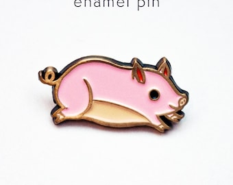 Enamel pin, PIG PIN, teacup pig enamel pin, pink pig pins, pig jewelry enamel pins, pig lapel pin, cute pig pin, pig backpack pins pig gifts