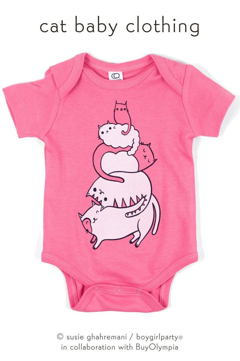 fef706f7182d1 Organic Baby girl gift - vegan baby girl organic clothes, cat baby clothes  girl baby clothes pink, kawaii baby niece gift, cat baby items