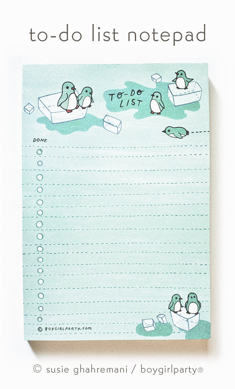 Cute office supplies PENGUIN to do list  desk items cool image 0