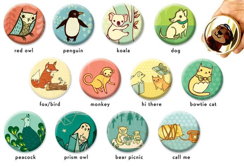 Animal POCKET MIRRORS Gift for Women  boy girl party favors image 0