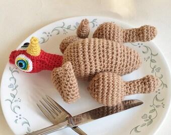 Crochet Pattern, Toy Pattern, Amigurumi Pattern, Doll Pattern, Roast Turkey Doll