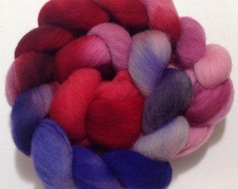 Targhee Wool Roving, Targhee Top, Targhee Roving, Targhee Spinning Fiber, Wool Fiber, Spinning Fiber, Dyeing Fiber, 4 oz, Knitspin,SKU186-21