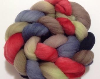 Dyed To Order, Merino Wool Roving, MerinoTop, Merino Roving, Merino Spinning Fiber, Wool Fiber, Spinning Fiber, 4 oz  Knitspin, SKU-189-21
