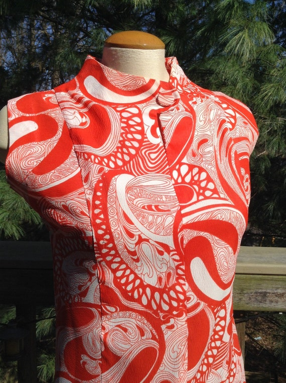 Vintage Red Swirl Dress