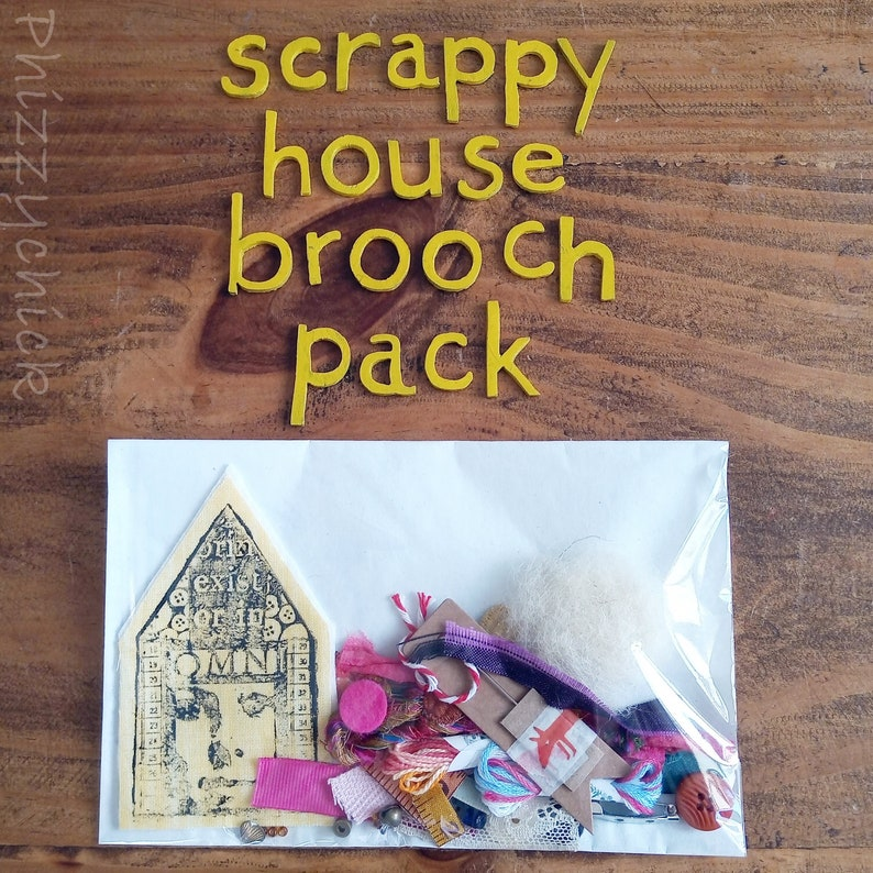 Yellow #30 Scrappy House Brooch Kit