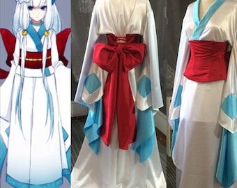 Cosplay kimono with obi corset