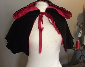 Bat Wing capelet hooded shoulder cape vampire capelet