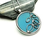 Stained glass pendant - 9109