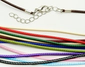 Waxed polyester cord choker/necklace