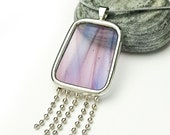 Stained glass necklace pendant (9114)