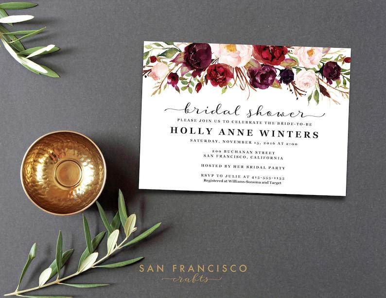 Bridal Shower Invitation Template  Editable PDF Instant image 0