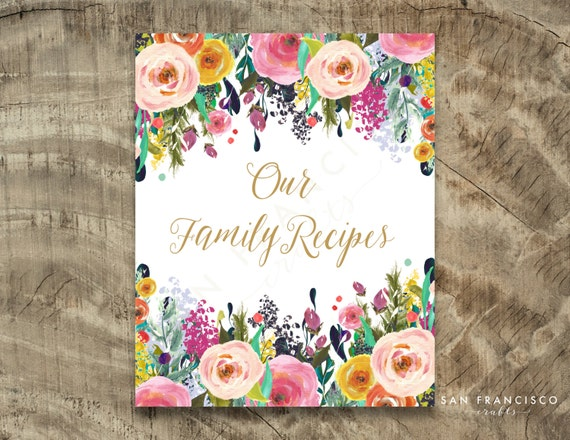 Family Recipe Binder Cover Sheet Ashley Collection