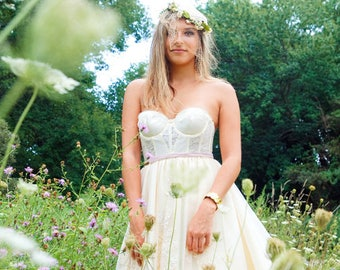 New York Couture One of a Kind *Custom Made* PIXIE Garden Bustier PARTY Dress