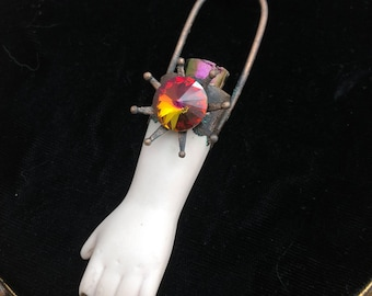 Tempest the Fire Starter Haunted Creepy Doll Arm Vessel Necklace, Doll Part Pendant, Reliquary Pendant