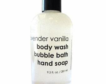 Body wash, bubble bath, hand soap