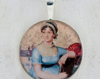Jane Austen Sterling ciondolo