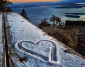 8x10 Heart Print, Valentines Day, Orcas Island, Love Print, Nature Photography, San Juan Islands, Washington, Valentines gift