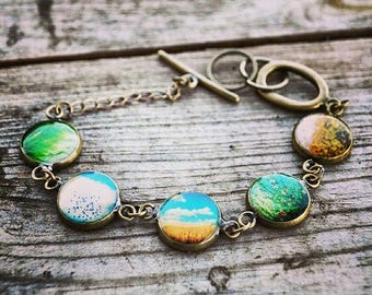 Prairie Girl Vignette Resin Bracelet
