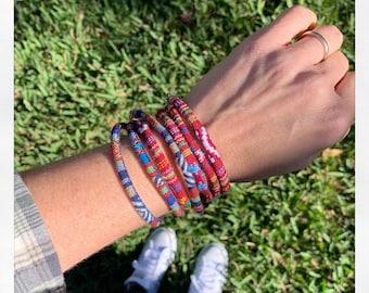 Boho Wrap Bracelet  - Stacking Bracelet - Woven Patterned Bracelet for Men or Women - Gift for Him or Her Under 10