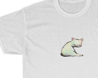 Unisex Heavy Cotton Tee - Hippo-Frog Design