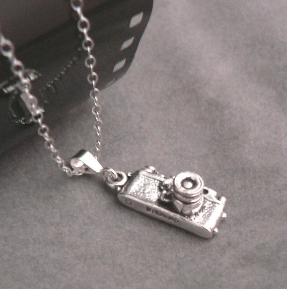 35mm Camera earring and necklace set