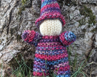 Hand Knit Baby Gnome  - Waldorf Inspired
