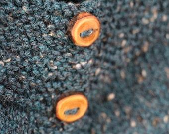Rustic Blue Alpaca Wool Vest 6 months