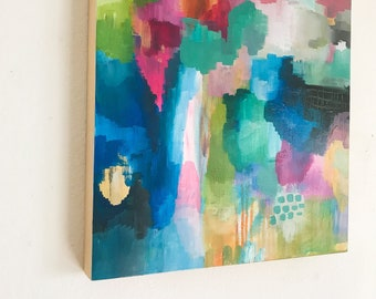 """16""""x16"""" Original painting: Abstract bouquet"""