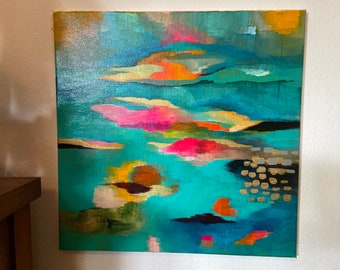 """20""""x20"""" Original painting: Abstract cloudscape"""
