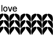 """Wide Knitting Love Vinyl Decal (sticker) - about 5""""x23"""""""