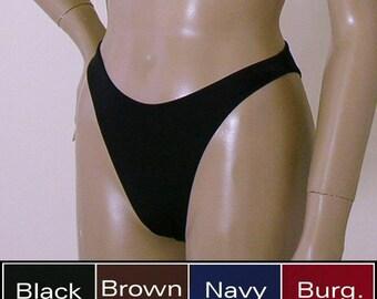 362c94b6dc 80s 90s High Leg Brazilian Bikini Bottom in Black