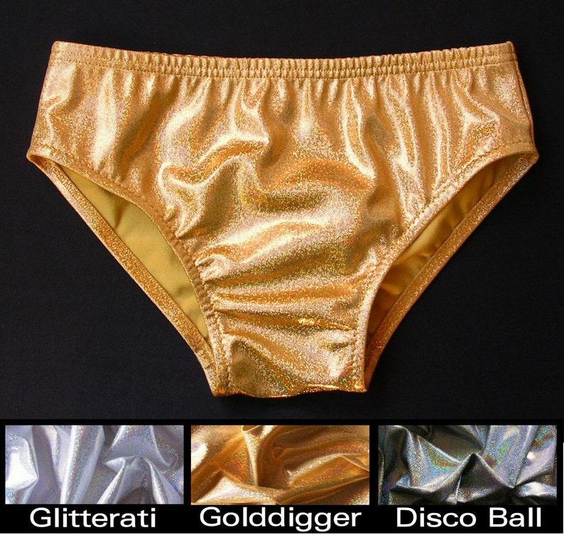 3e03ebb4d0 MENS Swim Brief Swimsuit in Gold Silver or Disco Ball | Etsy