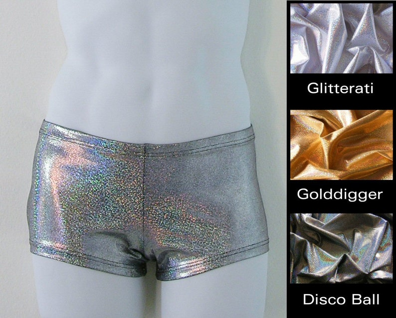 b1618d1b24 Mens Low Rise Square Cut Swimsuit in Disco Ball Silver or | Etsy