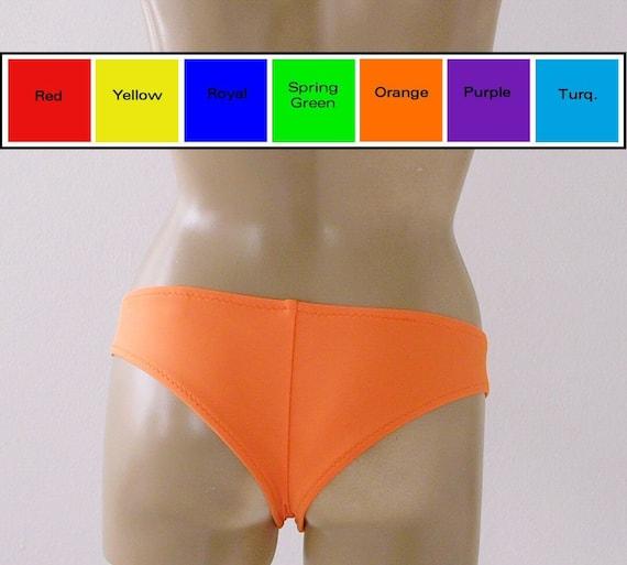 925e1fbbe2 Brazilian Boy Short Bikini Bottom in Red Yellow Blue Green