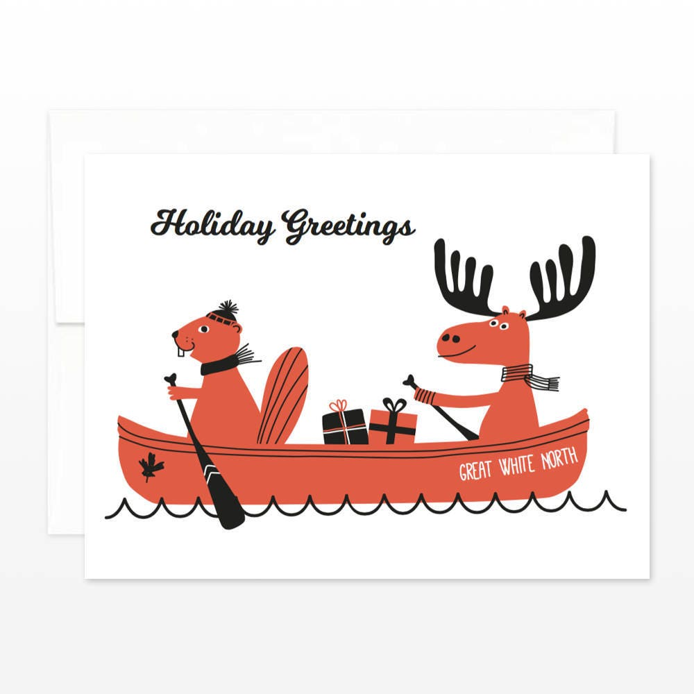 Great White North Canada Christmas Card Canada Holiday Etsy