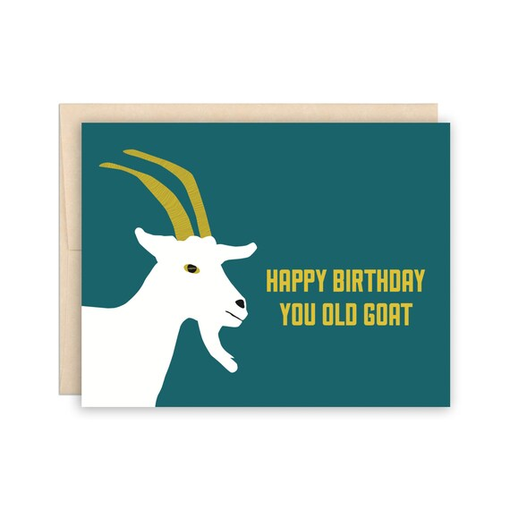 RECALCULATING.. BIRTHDAY Goat Mountain Climbing Birthday Greeting Card NEW