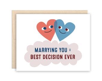 Funny Anniversary Card, Valentine's Day Greeting Card, Funny Marriage Card, Best Anniversary Card, Best Marriage Card, I Love You Card