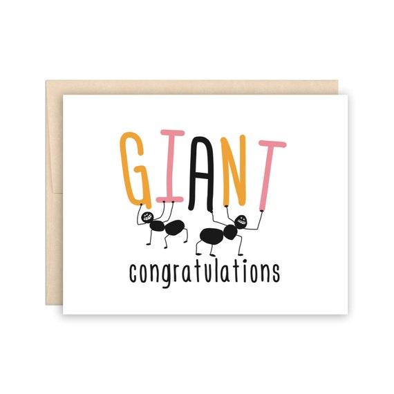 Funny Congratulations Card Funny Graduation Card Funny Wedding Congratulations Funny New Job Card Funny Engagement Card Funny Congrats Card