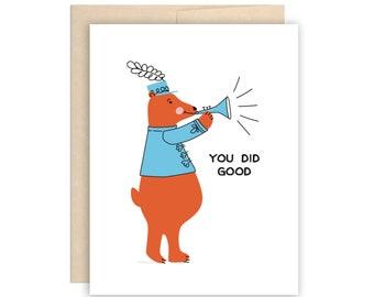 SALE Cute Congrats Card, Funny Graduation Card, New Job Card, Good luck card, Graduate card, Funny congratulations card, Congrats card