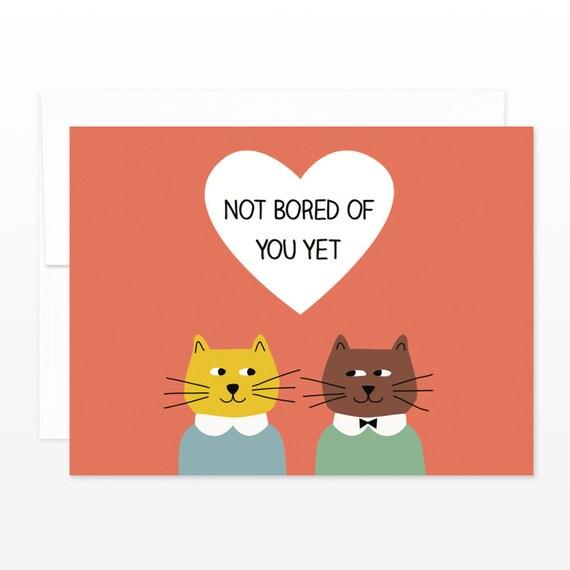 Lustige Katzen Valentinstag Karte Karte Liebe Susse Etsy