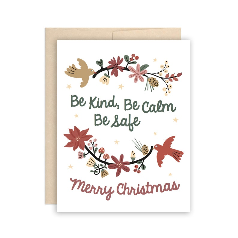 Be Kind Merry Christmas Dr Bonnie Henry Card Pandemic Holiday image 1