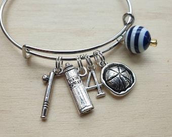Steve   Bracelet inspired by Stranger Things Stacking Charm Bracelet