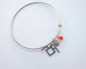 Black Lodge charm bracelet inspired by Twin Peaks